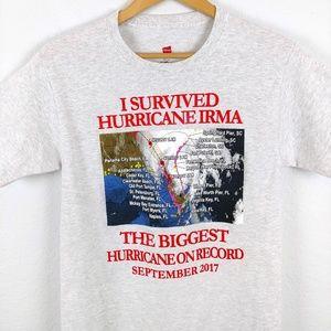 Hurricane Irma 2017 Florida Storm Biker Tshirt Tee